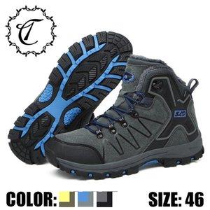 CatriCa Peluche Formato Nero Grigio 2019 Casual Scarpe da uomo inverno modo di alta qualità stivali piatti Sneakers 8012