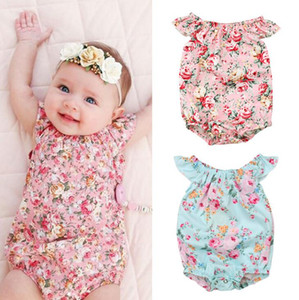 Kids Clothing Bow Tie Cute Cotton Print Girls Jumpsuit Europe and America Floral Infant Child Pants