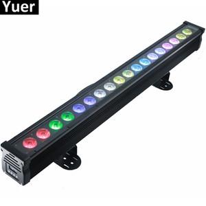 شحن مجاني 18x18W RGBWA-UV 6IN1 أدى الجدار غسل ضوء DMX بقيادة بار DMX خط بار غسل ضوء المرحلة على مصباح داخلي دي جي في الهواء الطلق