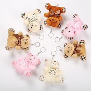 Teddy Bear Plush boneca bonecas chaveiro Chaveiro Anel presente Bebés Meninas Brinquedos Birthday Party Decoração de Natal Chaveiro de