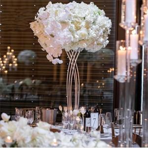 NOVO ouro Chegada ou branco de metal cruz pintada para mesas de casamento centerpieces suporte de flor senyu0466