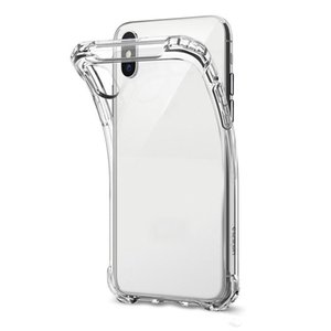 For iPhone X XS MAX XR 7 8 Clear TPU Cellphone Case Shock Absorption Soft Transparent Back Cover For Samsung S9 S10 Plus S10e DHL Free