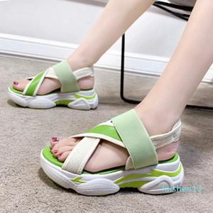 RIBETRINI New Casual Women Brand Platform Shoes Women Summer Fresh Wedges Sandals 2020 Summer slip-on Sandalslll l13