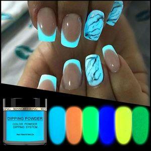 Danceyi Luminous 매니큐어 아트 도구 세트 네온 인광체 분말 네일 반짝이 가루 먼지 ae050