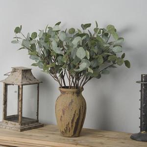 Künstliche Pflanze Eukalyptus-Hausgarten-Partei dekorative Grünpflanze Ast Blätter 65 cm Hochzeits-Dekoration Silk Flower Ins Fotografie Prop