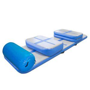 Ücretsiz Kargo A Takımı bir Pompalı Renk Şişme Hava Parça Su Trambolin Airtrack Cimnastik Hava Mat (6 adet Dahil)