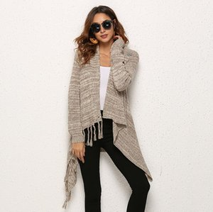 Abrigo ropa otoño e invierno transfronterizo de gran tamaño de las mujeres europeas americanas explosión borla suéter de punto bufandas regalos