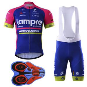 LAMPRE MERIDA PRO TEAM Синий с коротким рукавом Спортивные костюмы Wear велосипед + шорты размер XS-5XL