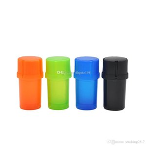New Plastic tobacco spice Grinder herb Grinder Crusher Smoking 42mm diameter 3parts Tobacco Smoking Accessories Free Shipping