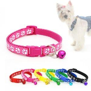 Arbeiten Sie Haustier Kleine Katze-Hundehalsband mit Sicherheitsausklinkung Plastikschnalle Kitten Halskette adjuatable Fashion Nylon mit Bell