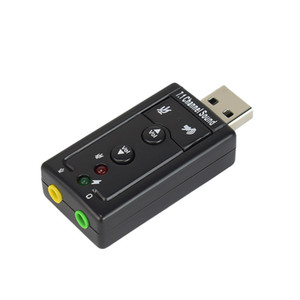 7.1 externo USB Sound Card Adapter USB para 3,5 mm para auscultadores Sound Card Adaptador de Áudio Micphone para Mac Win Computer