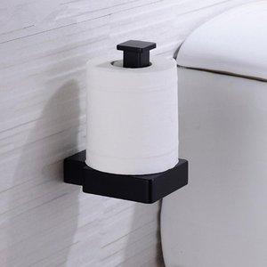Toilet Paper Titular Banho Fique Hanger Latão Tissue rack Cozinha gancho de toalha preto escovado Ouro /