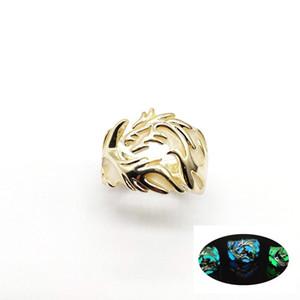 6 estilos luminosos brilhando no escuro moon dragon anel para mulheres dos homens anéis ajustáveis noctilucentes luz da noite jóias presentes de dia das bruxas m307f