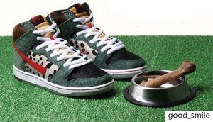 Erkekler Leopar Sneaker Erkek Süet Paten Ayakkabı Kadın Kaykay Bayan Basketbol için SB Dunk Hi Pro Bota Walker Yüksek Top Sneakers