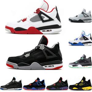New Hot Bred 4 4s Basketball Schuhe Cactus Jack Herren Thunder Black Cement Dunk von oben Männer Sport Designer Schuhe Eur40-47