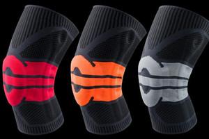 Basketball genou Brace genou compression support tampon de ressort basket Tricoté compression élastique genou manches soutien sport football du football