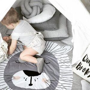 15 Stilleri Çocuk Odası Zemin Halı Bebek Sürünen Paspaslar Tilki Geyik Boynuzlu At Aslan Kuğu Hayvanlar Oyun Mat Dekoratif Tarama Battaniye