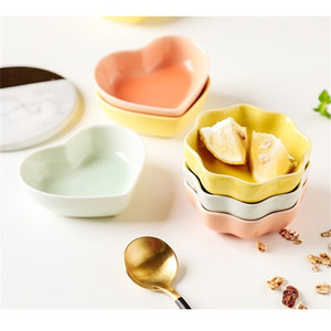 Durable Sauce Saucer Dish Love Heart Wave Design Ceramic Seasoning Tray Japanese Cuisine Dishes Of Kitchen Gadgets 1 4fx E19