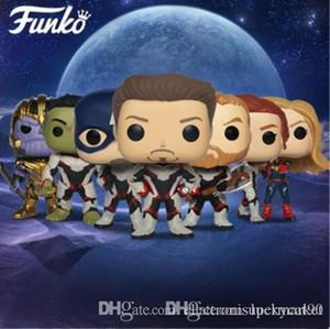 Китай Лаки Funko POP Официальный Avengers4 Endgame фильм Модель Виниловые куклы Коллекция # 449 Железный человек # 453 Танос подарок на день рождения фигурку игрушки