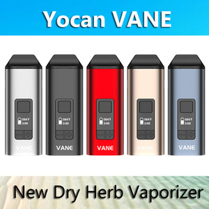 Authentische Yocan Vane Dry Herb Vaporizer Pen E-Zigarette Kits 1100mAh TC mit OLED-Keramik-Kammer 100% reales VS Yocan iShred anzeigen