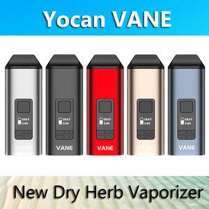 Authentic Yocan Vane seco Herb vaporizador Pen E Cigarette Kits 1100mAh TC Com display OLED cerâmica Câmara 100% real VS Yocan iShred