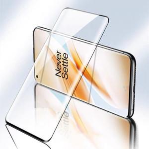 protezione dello schermo per OnePlus 8 8PRO 7 Pro 3D curvo pieno vetro temperato rivestito con stampa di seta nera e screen protector imballaggio al dettaglio