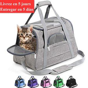 Ucuz Dog s Köpek Taşıyıcı Taşınabilir Pet Sırt Çantası Messenger Kedi Taşıyıcı Giden Küçük Köpekler Seyahat Çantası Soft Yan Nefes Pet Taşıma İçin Kediler