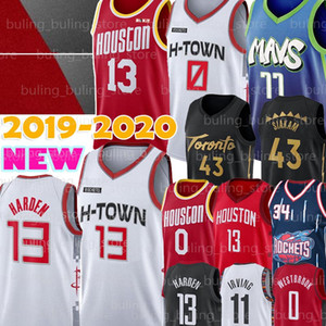 NCAA Russell Westbrook 0 Jersey Luka James Harden 13 77 43 Doncic Pascal Siakam Hakeem Olajuwon 34 Sion 1 Williamson Hombres jerseys del baloncesto