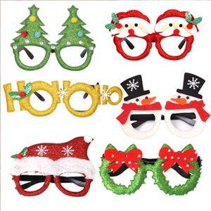 Yüksek Kalite Noel Yılbaşı Partisi Gözlük Süsleri Çocuk Oyuncakları Noel Baba Kardan Adam Gözlük Dekor için Parti Favor Aksesuar M247Y