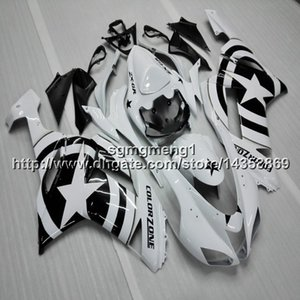 23 renkler + Vidalar yıldız beyaz siyah motosiklet kukuletası Kawasaki ZX636 ZX-6R 07 08 ZX6R 2007-2008 zx-636 ABS Plastik motosiklet Kaporta