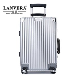 Insanvera Aluminum Frame Trolley Case Universal Wheel 24-Inch Suitcase Male Password Boarding Case Retro 20-Inch Suitcase