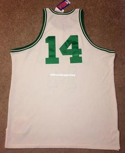 Bon marché Nouveau nouveau Top Bob Cousy # 14 Cel 1962-63 Mitchell Ness Jersey Hommes XS-5XL.6XL Shirt Jerseys de basketball cousu Jerseys Retro NCAA