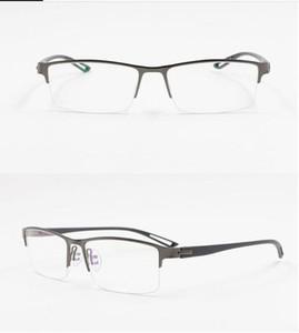 TR90 lega di titanio Occhiali Uomini Montatura Semi prescrizione senza orlo Piazza Glass Eye occhiali miopia Montature coreana Eyewear