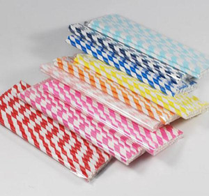 Multi color for choice Paper Drinking Straws Birthday Wedding Party Event Hawaiian Holidays Luau Sticks KTV Drinking Straws