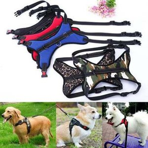 Pet Dog Vest Harness Leash Collar Set No Pull Adjustable Labrador Husky dog leash Small Medium Large XL Camouflage wholesale