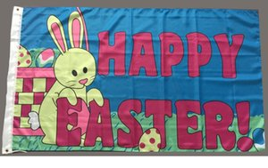 Happy Easter Flag Banner 3x5ft Hot Selling Polyester Freeze Flying Hanging Printed Flags for Sale, free shipping