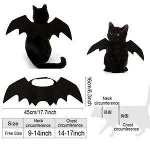 ازياء مصاص الدماء الأسود لطيف الهوى القط اللباس الملابس هالوين كلب أجنحة الخفافيش هالوين ديكور ثخن كلب القط زي BH2340 TQQ