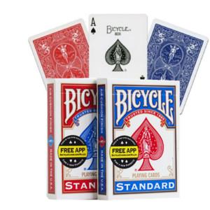 Bisiklet Rider Geri Standart Dizin Iskambil Kartları Kırmızı / Mavi Güverte 808 Mühürlü USPCC Poker Sihirli Kart Oyunları Sihirli Hileler Sahne