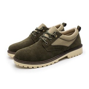 PP-11 Lace-up 2019 Casual Shoes Comfortable Shoes Men Work New Breathable Wear-resisting Flats Leather Weqas