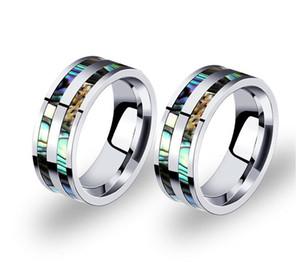Bague en acier au titane pour homme, 8 mm, pour homme, anneau en acier inoxydable, finition polie, or coloré, confort, taille 6 -12