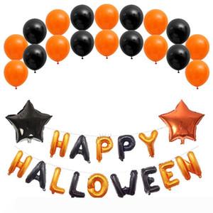 5 Stil Happy Halloween Ballons Set 16Inch Halloween Buchstaben Dekoration Charm Folienballon Banner Halloween Party Supplies JK1909