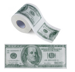 Cem dólares Bill Impresso Papel Higiênico Dólares América US Tissue novidade engraçado $ 100 TP Rolo de Dinheiro da mordaça