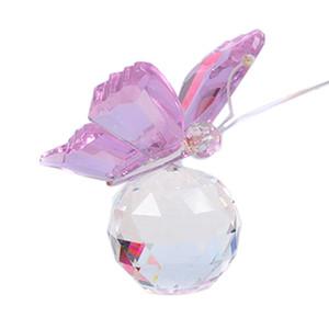 Sevimli Kristal Kelebek Cam Meslekler Doğal Taşlar Hayvan Figürinleri Ev Masaüstü Dekor Süsler Düğün Souvenir Hediyelik