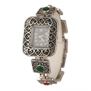 Wholesale Jewellery Mix Bangle Bracelets Lots Bracelet 2015 Fashion New Openwork Hearts Vintage Watch Resin Knot Watch Jewelry For Women