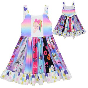 Bebé Niños Niña Princesa de Verano JOJO Siwa Vestido de Fiesta Estampado floral Tutu Vestidos de Niños Vestido Niños Ropa Traje Casual