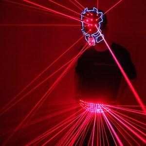 Red Belt laser Mask LED d'ardore cintura dj Disco Dance Abbigliamento Ballroom Singer Disco Laser Man maglia del vestito
