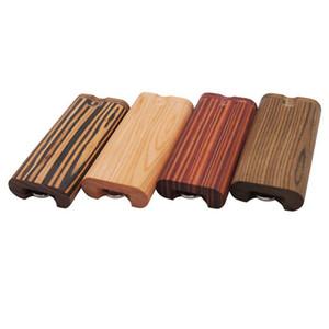 허브 그라인더 Woodiness 부러진 담배 케이스 목재 나무 원색 알루미늄 연마 흡연 파이프 니들 파이프 바늘 핫 14xy C2