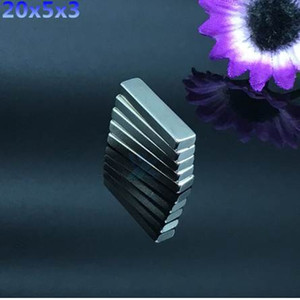 Hot Sale 50pcs N50 20x5x3mm Strong Block Cuboid Magnets Rare Earth Neodymium Magnets 20*5*3