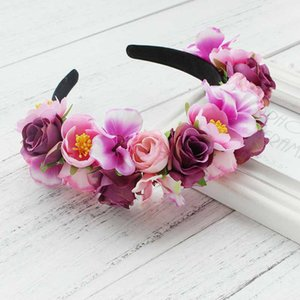 Hairband Rose Garland wreath wedding party Bridal Hair Accessories Bridesmaid flower crown Festival Decor Princess headpiece