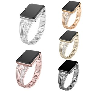 Band for Apple Watch 38mm, Luxury Crystal Bling Rhinestone Diamond Bracelet Strap, Adjustable Stainless Steel Replacement Band